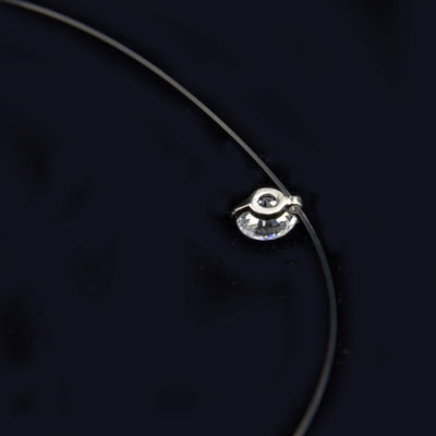 Transparent Fishing Line Cubic Zirconia Necklace