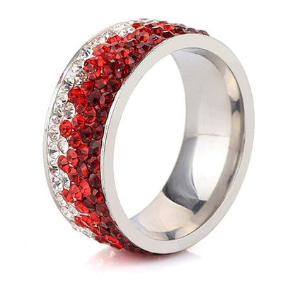 Clear Crystal Wedding Rings For Women