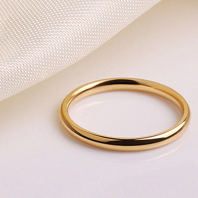 Surgical steel women wedding Ring