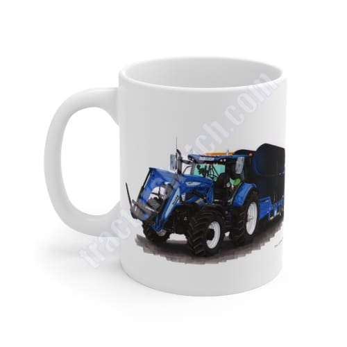 New Holland T7 Tractor, Loader & Low Loader,  Mug 11oz