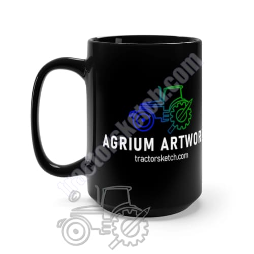 Agrium Artwork Black Mug 15oz - Artwork, Mugs
