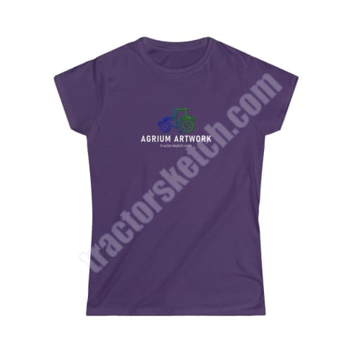 Agrium Artwork Ladies Softstyle T-Shirt - tractorsketch.com