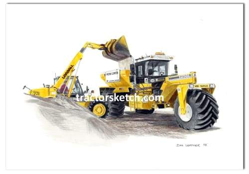 Big A Spreader & JCB Loadall - tractorsketch.com