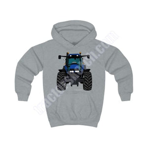 Blue Tractor #2 Kids Hoodie / New Holland