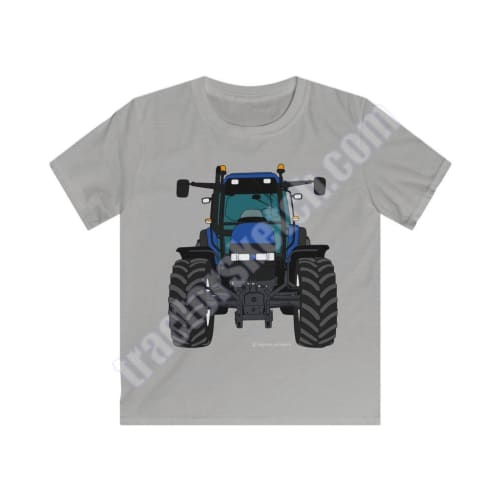 Blue Tractor #2 Kids T-Shirt / New Holland - T-shirts