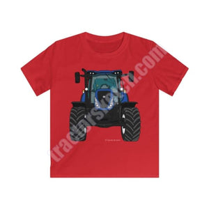 Blue Tractor Kids T-Shirt / New Holland - T-shirts