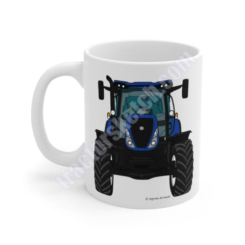 New Holland T7.175 T7 Tractor Coffee Mug Mugs Blue #1