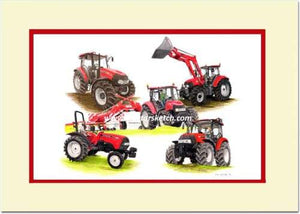 Case Farmall Limited Edition 5 Model Montage - tractorsketch.com