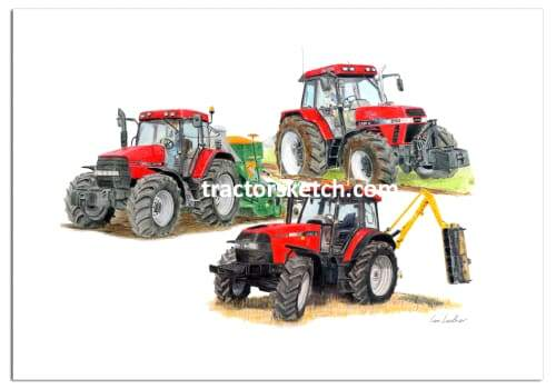 Case IH Limited Edition Trio - tractorsketch.com