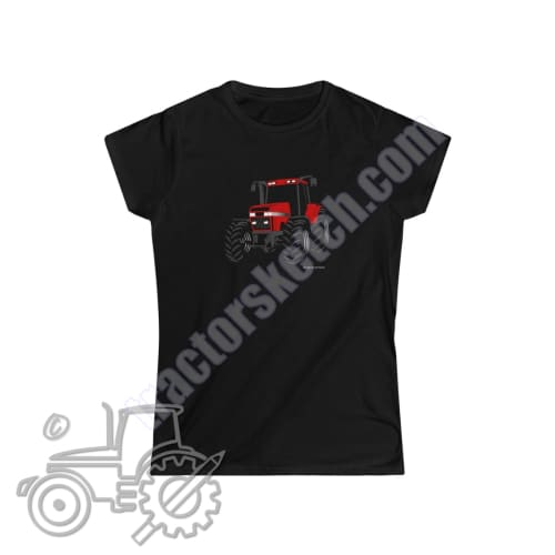 Case IH Magnum Silhouette Ladies Softstyle T-Shirt / Tractor