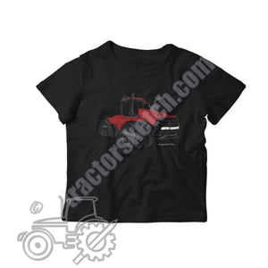 Case IH Quadtrac Silhouette Kids Softstyle T-Shirt / Tractor