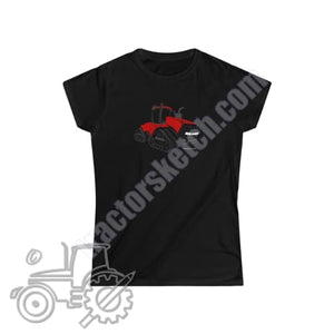 Case IH Quadtrac Silhouette Ladies Softstyle T-Shirt /