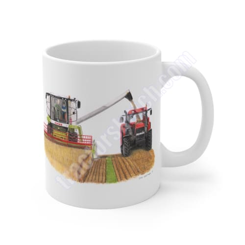 Claas Avero & Case IH MX110 Tractor Ceramic Mug 11oz