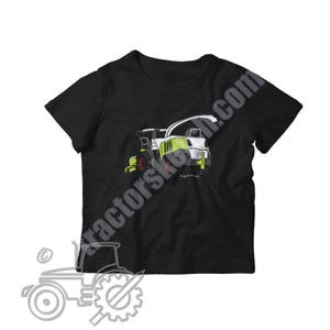 Claas Jaguar 960 Silhouette Kids Softstyle T-Shirt / Tractor