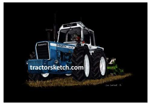 County 1184TW & Plough - tractorsketch.com