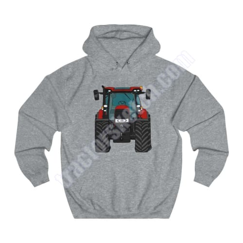 Dark Red Tractor Hoodie Mens Unisex Ladies / Cartoon - Case