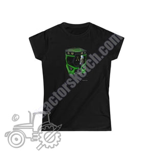 Deutz Fahr Series 6 Ladies Softstyle T-Shirt - tractorsketch.com