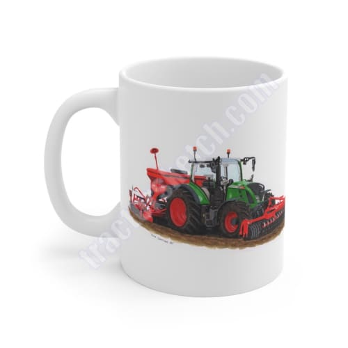 Fendt 724 Tractor & Drill/Press Coffee Mug Mugs Tea Cup