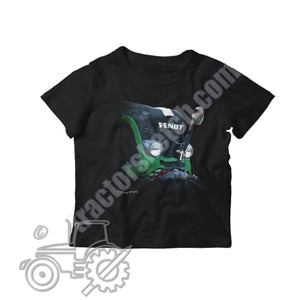 Fendt 820 Kids Softstyle T-Shirt - tractorsketch.com