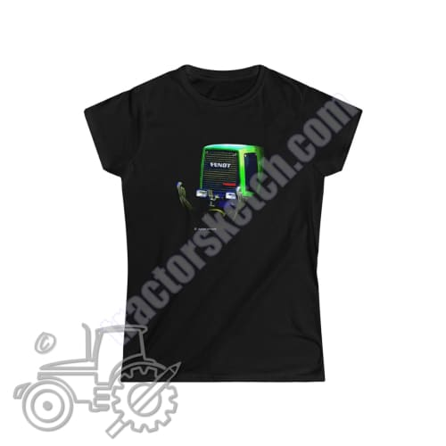 Fendt Favorit 800 Ladies Softstyle T-Shirt - tractorsketch.com