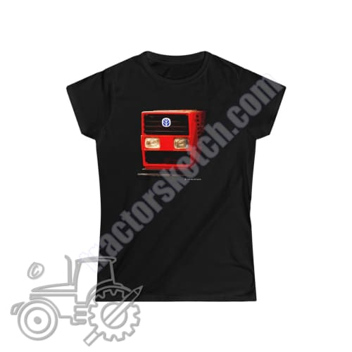 Fiat 110-90 Ladies Softstyle T-Shirt - tractorsketch.com