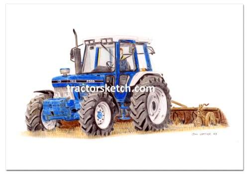 Ford 7810 & Plough - tractorsketch.com
