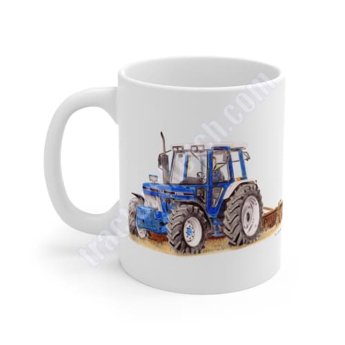 Ford 7810 Ploughing Tractor Ceramic Mug 11oz