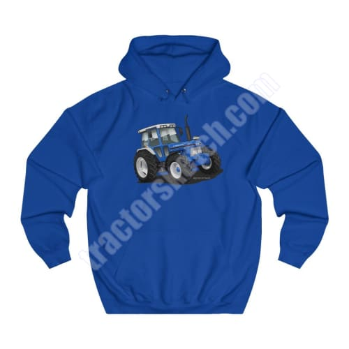 Men's Unisex Ford 7810 Series 10 Tractor Hoodie Jumper Shadow Tractor collection