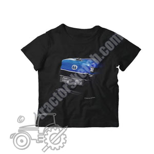 Ford New Holland 7840 Kids Softstyle T-Shirt - tractorsketch.com