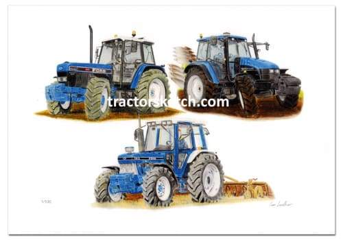Ford/New Holland Limited Edition Trio - tractorsketch.com