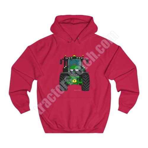 Men's Unisex John Deere 6R 6155R 6195R Tractor Hoodie Jumper Cartoon Tractor collection