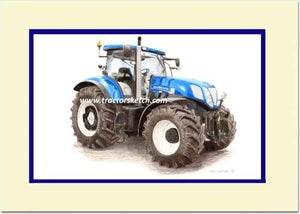 New Holland T7.260 'Blue Power' - tractorsketch.com