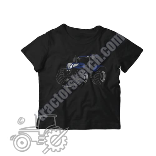 New Holland T7 Blue Power Silhouette Kids Softstyle T-Shirt