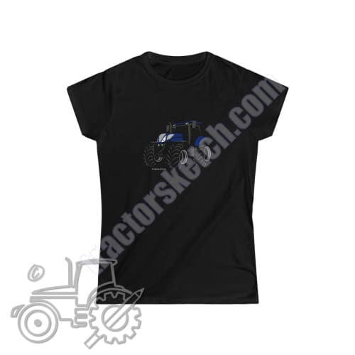 New Holland T7 Blue Power Silhouette Ladies Softstyle