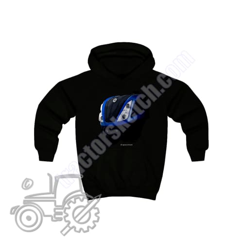 New Holland T7 Kids Hoodie - tractorsketch.com