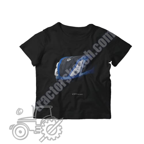 New Holland T7 Kids Softstyle T-Shirt - tractorsketch.com