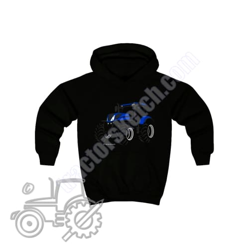 New Holland T7 Silhouette Kids Hoodie / Hoodies - Tractor