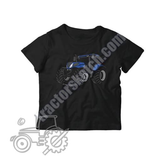 New Holland T7 Silhouette Kids Softstyle T-Shirt / Tractor