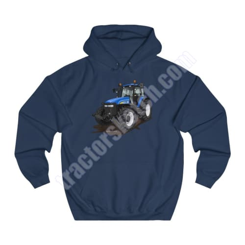 Men's Unisex New Holland TM155 Tractor Hoodie Jumper Cartoon Tractor collection