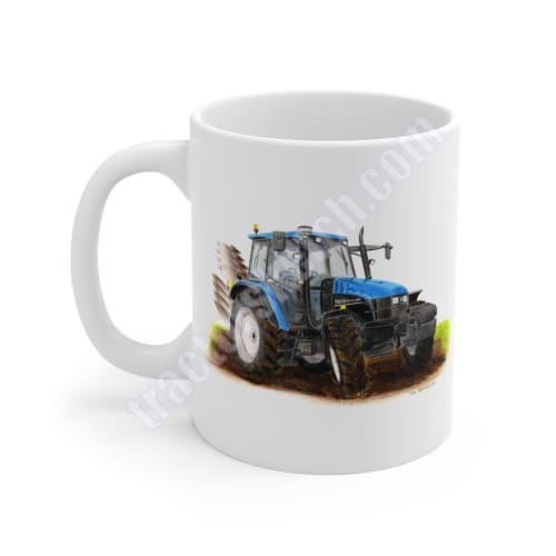 New Holland TS115 Tractor & Plough Mug 11oz / Mugs