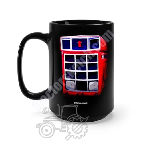 International 1455 Black Mug 15oz - International, Mugs