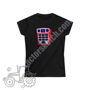International 1455 Ladies Softstyle T-Shirt - tractorsketch.com