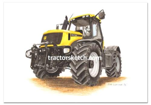 JCB Fastrac,2170 , Tractor,  Ian Leather, Tractor Art, Drawing, Illustration, Pencil, sketch, A3,A4