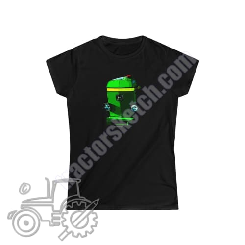 John Deere 3350 Ladies Softstyle T-Shirt - tractorsketch.com