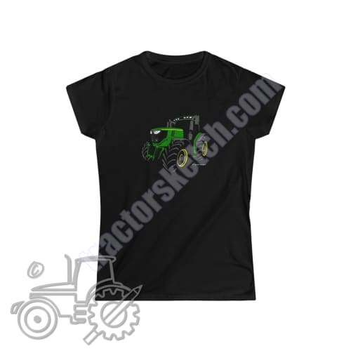 John Deere 6250R Silhouette Ladies Softstyle T-Shirt /