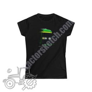 John Deere 6910 Ladies Softstyle T-Shirt - tractorsketch.com