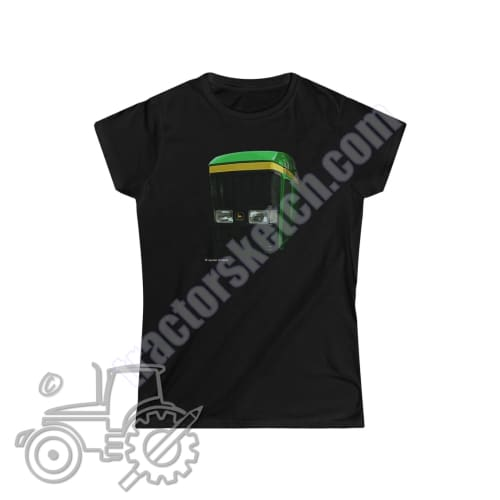 John Deere 7810 Ladies Softstyle T-Shirt - tractorsketch.com