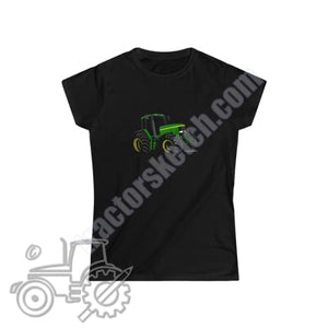 John Deere 7810 Silhouette Ladies Softstyle T-Shirt /
