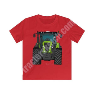 Lime Green Tractor Kids T-Shirt / Claas - T-shirts