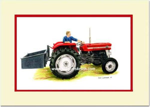 Massey Ferguson 135 & Linkbox - tractorsketch.com